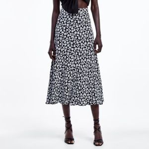 NWOT Floral Print Zara Maxi Skirt